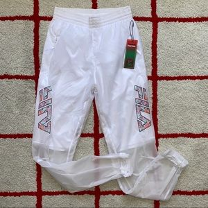FILA Tagg Athletic Workout White Pants Joggers